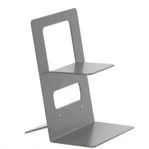 STAND LD SMALL: Espositore da banco per Gel Mani in alluminio verniciato colore Grigio, Porta Dispenser per igienizzante, per negozi, hotel, ufficio, Limac Design®