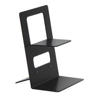 STAND LD SMALL: Espositore da banco per Gel Mani in alluminio verniciato colore nero, Porta Dispenser per igienizzante, per negozi, hotel, ufficio, Limac Design®