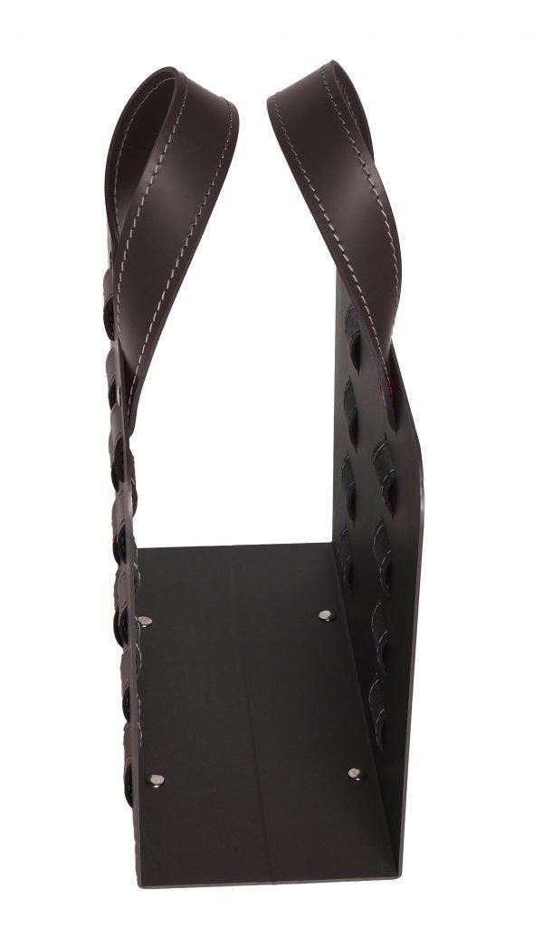 Porte-revues en acier avec inserts en cuir L-BAG 02