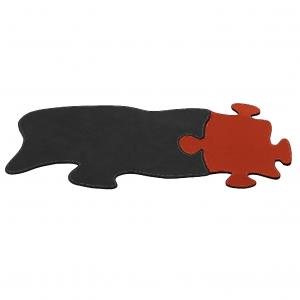 Sous-Main avec Tapis de Souris Mouse en cuir PUZZLE
